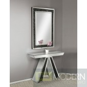 Tamilore mirrored console table with Gemstones