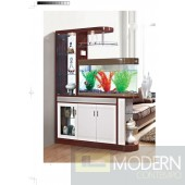 Modern Contemporary Bookcase Curio Display Room Divider with Aquarium.