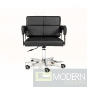 Lilou Modern Black Bonded Leather Office Chair