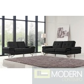 1373 Black Sofa & Loveseat Set