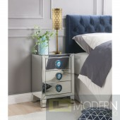 Eva mirrored nightstand