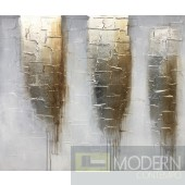 "Oro Gold Abstract Oil Painting 47"" x 39"""