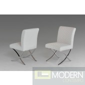 Modrest Adderley Modern White Leatherette Dining Chair