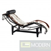 Adjustable Chaise in Pony, Brown and White