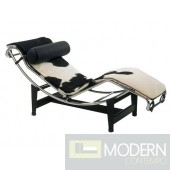 Adjustable Chaise in Pony, Black and White