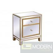 Bellini Nightstand Antique Gold