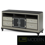 Michael Amini After Eight Contemporary Entertainment Unit Black Onyx by AICO