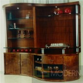 Walnut finish entertainment unit made in Brazil