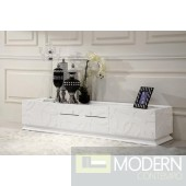 Ariel - Modern White Tv Stand