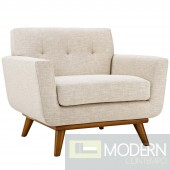 Engage Fabric Armchair Beige