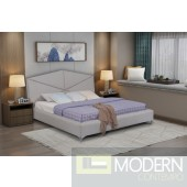 Arctic Grey Fabric platform bed