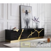Oslo Modern Black & Gold TV Stand