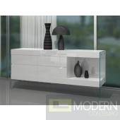 Adrian - Modern Floating White Buffet