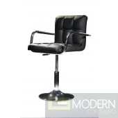 Modrest B05 - Modern Eco-Leather Black Swivel Chair