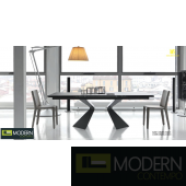 VALERIA Extendable Glass Dining Table