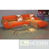B 317 - Ultra Modern Leather/microfiber Sectional Sofa
