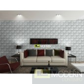 WEAVE II- Textured PVC Glue on Wall 3D tiles - Box of 12 - 32 Sq Ft