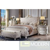 Antique Pearl Fabric Tufted  Bedroom