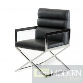 Modrest Capra Modern Black Leatherette Dining Chair