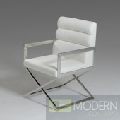 Modrest Capra Modern White Leatherette Dining Chair