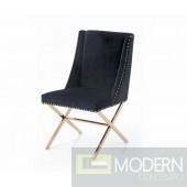 Silvio Modern Black & Rosegold Dining Chair