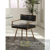 Alejandro Modern Black & Rosegold Dining Chair