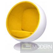 Ball Chair, Yellow
