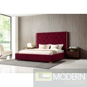 Favo Modern Red Velvet and Gold Bed