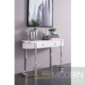 Maisonet Console Table in White & Silver
