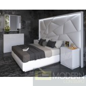 5Pc Empire Bedroom w/light and Empire Cases