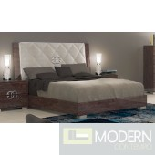 Guccio Deluxe Bed Glossy Walnut *Made in Italy