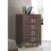 Guccio Chest Walnut Gloss *Made in Italy