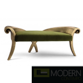 Belle Velvet Baroque Chaise Sofa