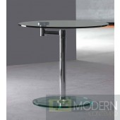 Bentina Rotating Glass Side Table