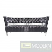 Bentega Grey Velvet Sofa Stainless Steel Frame