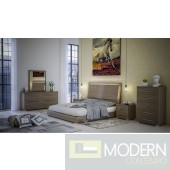 Berlina Grey 5-Piece  Bedroom Set  with Led Light Made in Italy