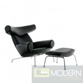Big Chair and Ottoman, Black