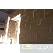 TEXTURED SURFACE CUSTOM 3D WALL SURFACE  PANEL MDF-Block
