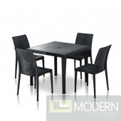Modrest Bistrot - Modern Square Dining Table Set