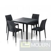 Modrest Bistrot - Modern Square Dining Table Set