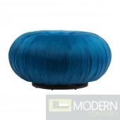Jasmine Bun Velvet Ottoman Blue