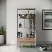 Harvard Brown Oak & Faux Concrete Bookcase