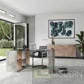 Harvard Glass and Concrete Reversible Desk