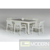 Renava Breeze White Outdoor Dining Set