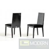 A&X Harmonia Black Dining Chair - Set of 2