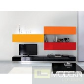 Modern Contemporary Entertainment Wall Unit Center