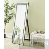 Glacier Contemporary Standing Full Length Clear Crystal Mirror 63 x 22