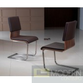 Modern Walnut wood Dining Chair set of 2 MCCIIC122