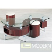 "C200 - Contemporary ""S"" shape coffee table"