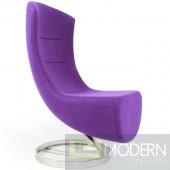 Modern Purple wool Lay Lounge chair